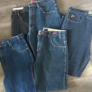 Other - VINTAGE lot of 5 pairs of brand name jeans